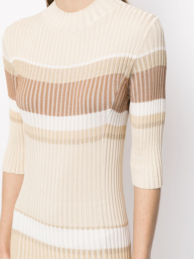 Thumbnail for your product : Proenza Schouler Ribbed-Knit Striped Dress