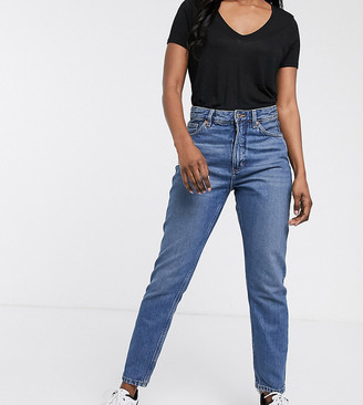 Monki Kimomo high waist mom jeans with organic cotton in classic blue