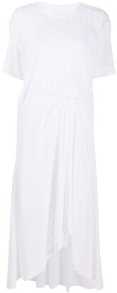 Cédric Charlier Relaxed-Fit Pinched-Detail Midi Dress