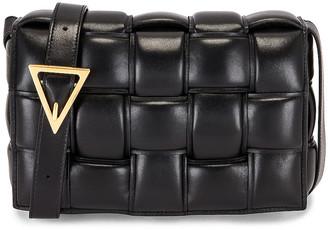 Bottega Veneta Small Padded Cassette Bag in Black & Gold | FWRD