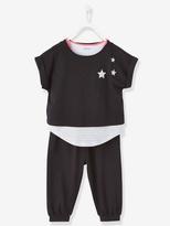 Vertbaudet Girls Top + T-Shirt + Harem-Style Trousers