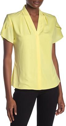 Calvin Klein Short Sleeve Solid Blouse