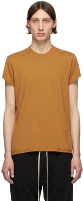 Rick Owens Orange Small Level T-Shirt