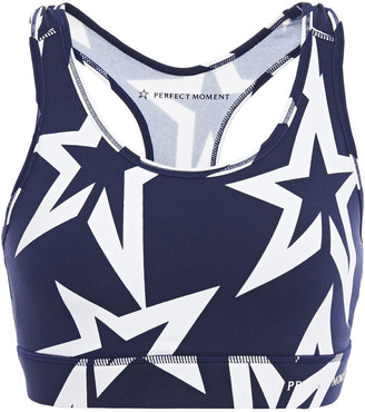 Perfect Moment Starlight Printed Stretch Sports Bra