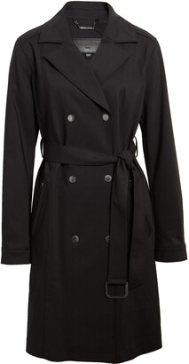 Karl Lagerfeld Paris Double Breasted Trench Coat