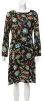 Nieves Lavi Floral Print Silk Dress