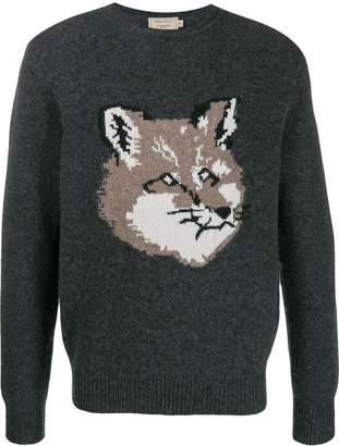 MAISON KITSUNÉ knitted fox jumper
