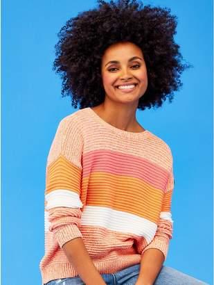 M&Co Khost Clothing ribbed stripe jumper