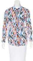 Carven Abstract Print Button-Up Top