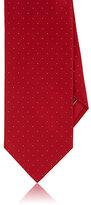 Brioni Men's Pin-Dot Silk-Cotton Satin Necktie