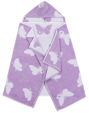 Linum Home Linum Kids 100% Turkish Aegean Cotton Hooded Easy Bath and Beach Wrap for Girls Bedding