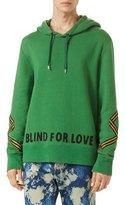 Gucci Cotton Hoodie Sweatshirt w/Appliqué, Green