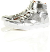 TROUBLE Mesh Hi-Top Trainers