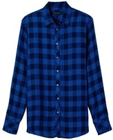 Banana Republic Dillon-Fit Plaid Ruffle-Cuff Flannel Shirt