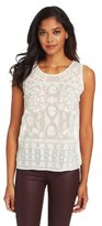 Corey Lynn Calter Women's Cody Embroidered Beaded Shell Top