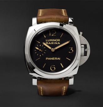 Panerai Luminor Marina 1950 3 Days Acciaio 47mm Stainless Steel And Leather Watch, Ref. No. Pam00422