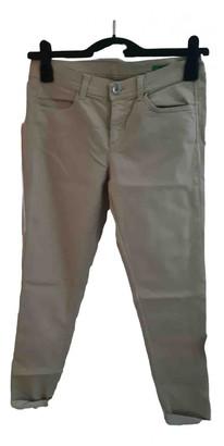 Benetton Beige Cotton - elasthane Jeans for Women