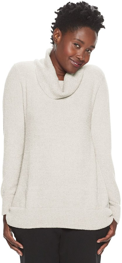 Croft & Barrow Women's Cowlneck Tunic Sweater