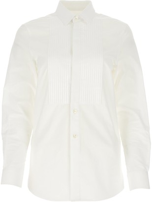 Saint Laurent Pleated Bib Detailed Shirt