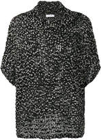 Cruciani knitted fitted top