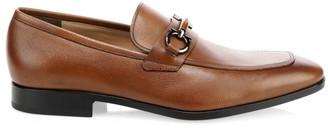 Salvatore Ferragamo Benford Gancini Bit Leather Loafers