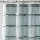 Pier 1 Imports Pompom Mineral Shower Curtain