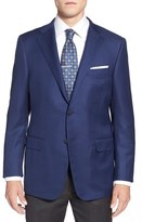 Hickey Freeman 'The Traveler' Classic Fit Solid Wool Sport Coat