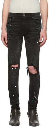 Amiri Black Paint Splatter Jeans