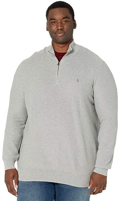 Polo Ralph Lauren Big & Tall Big Tall Textured 1/4 Pullover Sweater (Andover Heather) Men's Clothing