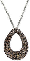 LeVian Le Vian Chocolatier® Diamond Teardrop Pendant Necklace (1 ct. t.w.) in 14k White Gold