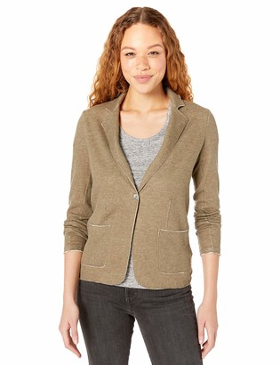 Majestic Filatures Women's Double-Face Long Sleeve 1-Button Blazer