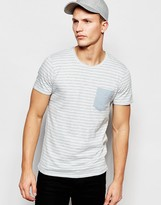Selected Stripe T-Shirt With Contrast Pocket