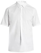 Wooyoungmi Short-sleeved cotton-blend poplin shirt