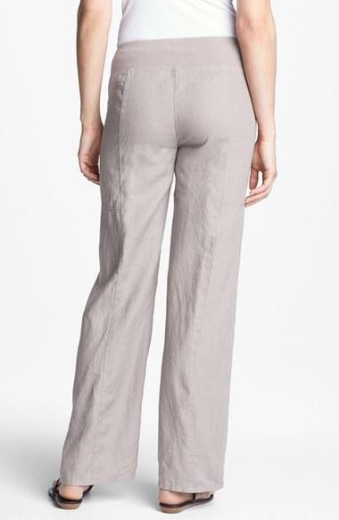 Eileen Fisher Wide Leg Linen Pants (Regular & Petite) (Online Only)