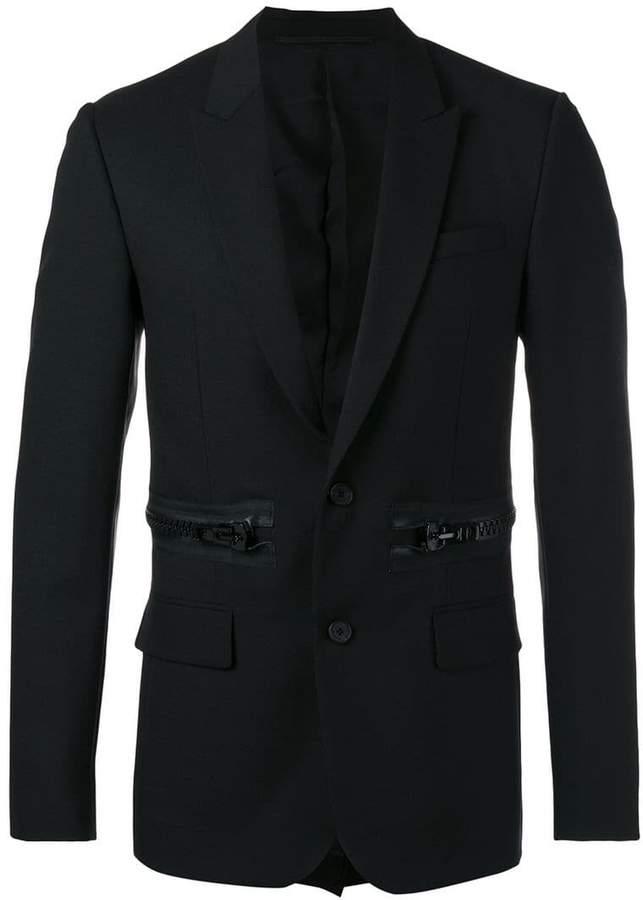 Givenchy oversized zip detail blazer