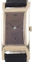 Benrus 10K Rose Gold & Leather Manual 20mm Unisex Watch