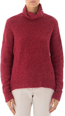 Peserico Alpaca & Mohair-Blend Sherpa Turtleneck Sweater