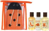 Little Twig Travel Basics Set - Tangerine/Lady Bug Bath Mitt - 4 pc