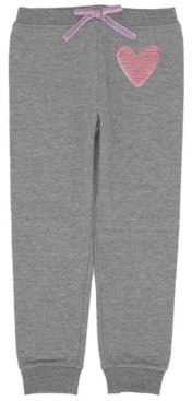 Epic Threads Toddler Girls Heart Inset Minky Sweatpant