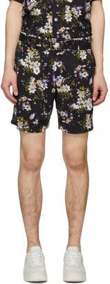 Davi Paris Black Adeline Print Shorts