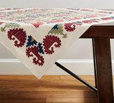 Pottery Barn Autumn Embroidered Tablecloth