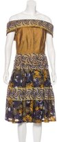 Rodarte Embroidered Off-The-Shoulder Dress w/ Tags