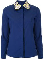 Holly Fulton embellished collar shirt - women - Cotton - 8