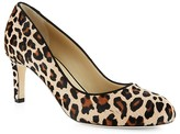 Hobbs London Sophia Leopard Calf Hair Court Pumps