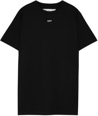 Off-White Stencil black printed cotton T-shirt