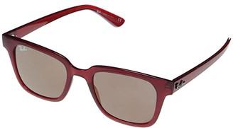 Ray-Ban RB4323 Square Sunglasses 51 mm (Black) Fashion Sunglasses