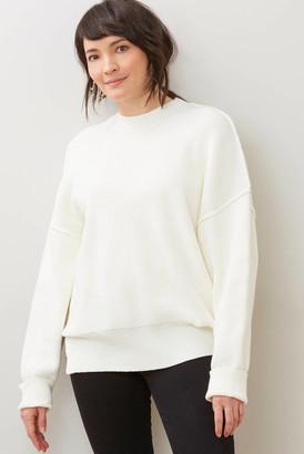 Neely Oversized Pullover White S/M