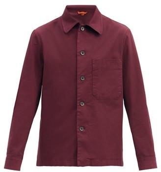 Barena Cedrone Cotton-blend Canvas Overshirt - Burgundy