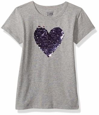 Look by crewcuts Amazon/ J. Crew Brand Girls' Short Sleeve Flip Sequin Tee