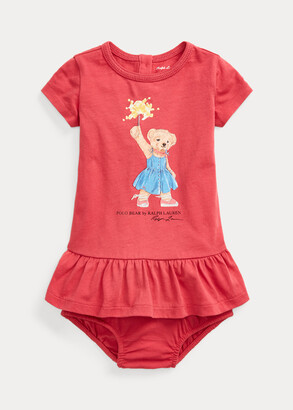 Ralph Lauren Sparkler Bear Cotton Dress